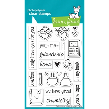 Lawn Fawn SCIENCE OF LOVE Clear Stamps LF597