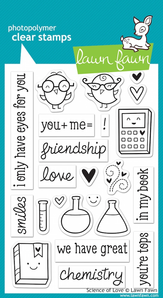 Lawn Fawn SCIENCE OF LOVE Clear Stamps LF597 zoom image