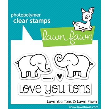 Lawn Fawn LOVE YOU TONS Clear Stamps LF598