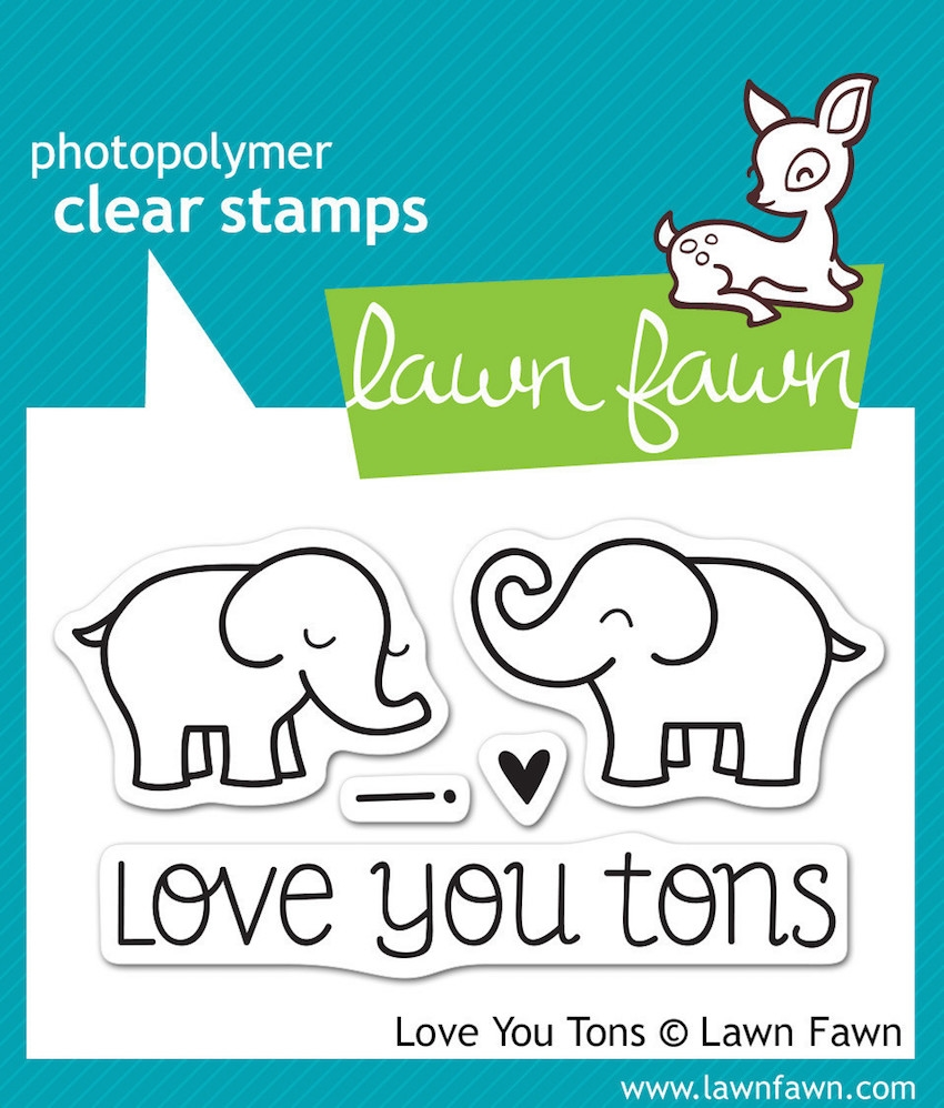Lawn Fawn LOVE YOU TONS Clear Stamps LF598 zoom image