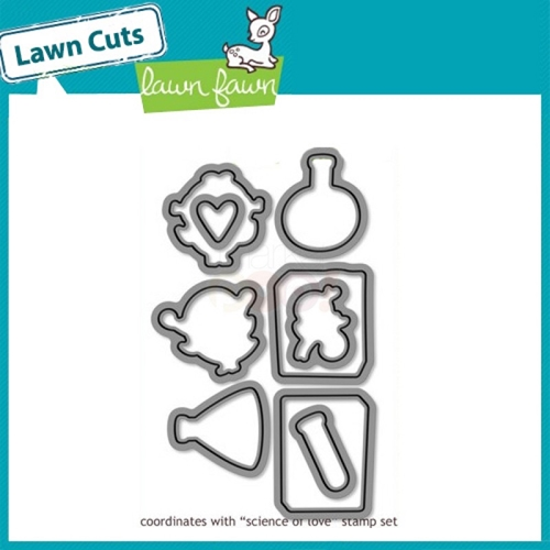 Lawn Fawn SCIENCE OF LOVE Lawn Cuts Dies Preview Image