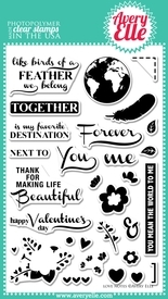 Avery Elle Clear Stamps LOVE NOTES Set 021112*