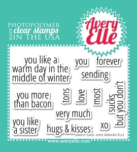 Avery Elle Clear Stamps SIMPLY SAID: LOVE Set 021129