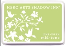Hero Arts Shadow Ink Pad LIME GREEN Mid-Tone AF262