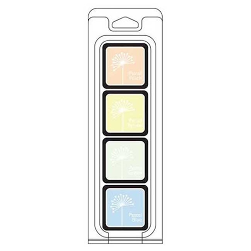 Hero Arts Mini Cube Ink Pads Set WHITE PASTELS FOUR PACK AF273 Preview Image
