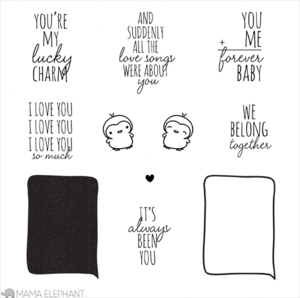 Mama Elephant Clear Stamp LOVE QUOTES Set Preview Image