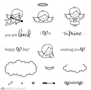 Mama Elephant Clear Stamp LOVE FROM ABOVE Set