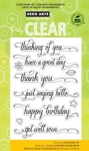 Hero Arts Clear Stamps MESSAGE WITH FLOURISH CL738