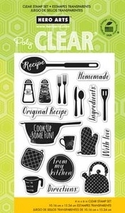 Hero Arts Clear Stamps COOK UP SOME FUN CL732 *