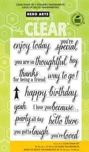 Hero Arts Clear Stamps ENJOY TODAY CL759