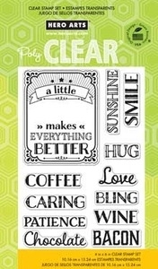Hero Arts Clear Stamps A LITTLE  CL758