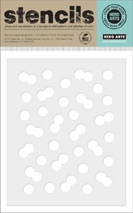 Hero Arts Stencil BUBBLE CONFETTI SA016  zoom image