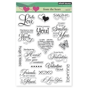 Penny Black Clear Stamps FROM THE HEART 30-207 zoom image