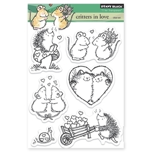 Penny Black Clear Stamps CRITTERS IN LOVE Transparent 30-208* Preview Image
