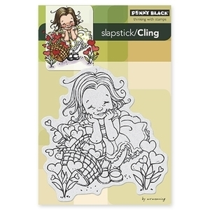 Penny Black Cling Stamp GARDEN OF LOVE Rubber Unmounted 40-271