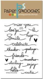 Paper Smooches SCRIPTY SAYINGS Clear Stamps Kim Hughes Preview Image