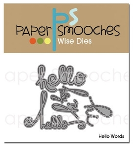 Paper Smooches HELLO WORDS Wise Dies Kim Hughes Preview Image