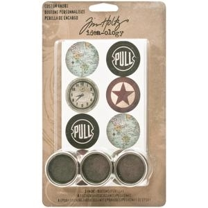 Tim Holtz Idea-ology CUSTOM KNOBS Metal TH93124