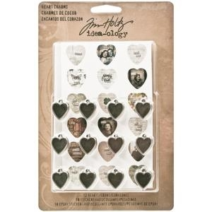 Tim Holtz Idea-ology HEART CHARMS Custom Metal TH93132 Preview Image