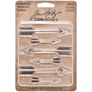 Tim Holtz Idea-ology ARROWS Adornments Metal Charms TH93127 Preview Image