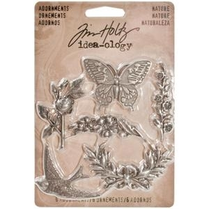 Tim Holtz Idea-ology NATURE Adornments Metal Charms TH93128 zoom image