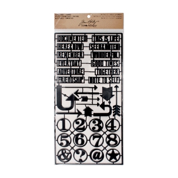 Tim Holtz Idea-ology Alpha Parts FRAMED TH93117