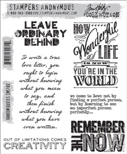 Tim Holtz Cling Rubber Stamps RANDOM QUOTES cms182