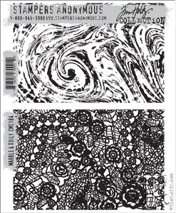 Tim Holtz Cling Rubber Stamps MARBLE & DOILY cms184 zoom image