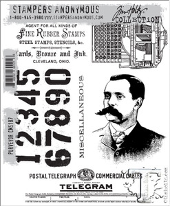 Tim Holtz Cling Rubber Stamps PURVEYOR cms187 Preview Image