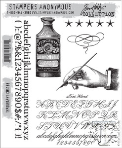 Tim Holtz Cling Rubber Stamps TYPOGRAPHY cms188 Preview Image