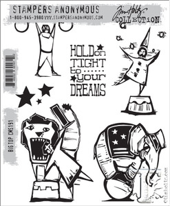 Tim Holtz Cling Rubber Stamps BIG TOP cms191 Preview Image