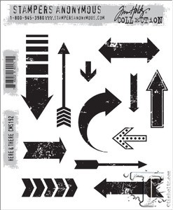 Tim Holtz Cling Rubber Stamps HERE and THERE cms192