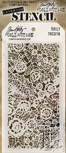 Tim Holtz Layering Stencil DOILY THS018 Preview Image