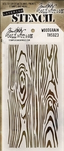 Tim Holtz Layering Stencil WOODGRAIN ths023 Preview Image