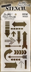 Tim Holtz Layering Stencil ARROWS ths025 Preview Image