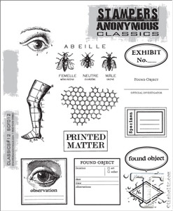 Stampers Anonymous Cling Rubber Stamps CLASSICS #12 SCF012