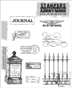Stampers Anonymous Cling Rubber Stamps CLASSICS #13 SCF013 Preview Image