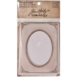 Tim Holtz Idea-ology MINI CABINET CARDS Frames TH93118 zoom image