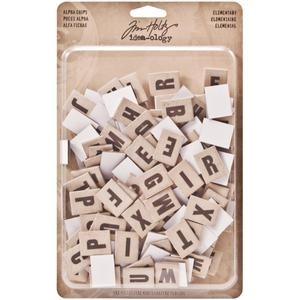 Tim Holtz Idea-ology ALPHA CHIPS TH93116