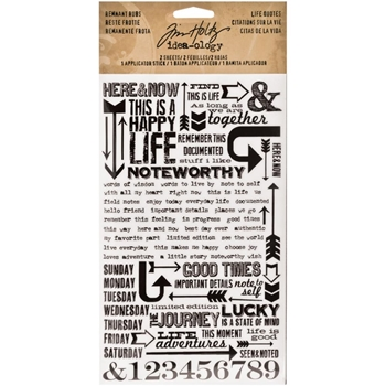 Tim Holtz Idea-ology LIFE QUOTES REMNANT RUBS  TH93120