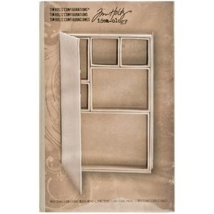 Tim Holtz Idea-ology MINI CONFIGURATIONS BOOK Shadowbox 9X6  TH93133 zoom image