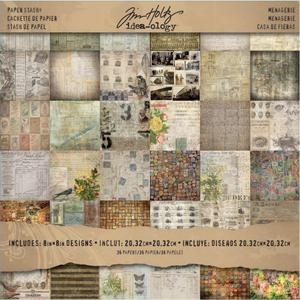 Tim Holtz Idea-ology Paper Stash MENAGERIE 8 x 8 Cardstock Pack TH93111 Preview Image