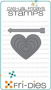 CAS-ual Fridays HEART BOARD  Fri-Dies 13108 Preview Image