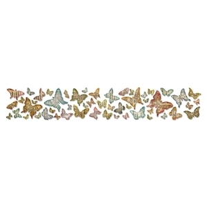 Tim Holtz Sizzix Die BUTTERFLY FRENZY Decorative Strip Sizzlits 659575 zoom image