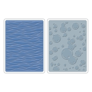 Tim Holtz Sizzix WAVES & BUBBLES Texture Fades Embossing Folders 659581
