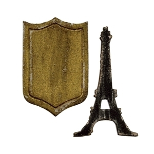 Tim Holtz Sizzix MINI EIFFEL TOWER & SHIELD Dies Movers & Shapers 659443
