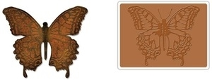 Tim Holtz Sizzix LAYERED BUTTERFLY Bigz Die With Texture Fades 659578 zoom image
