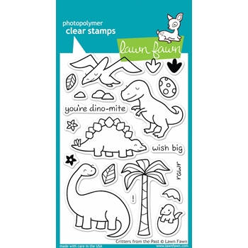 Lawn Fawn CRITTERS FROM THE PAST Clear Stamps