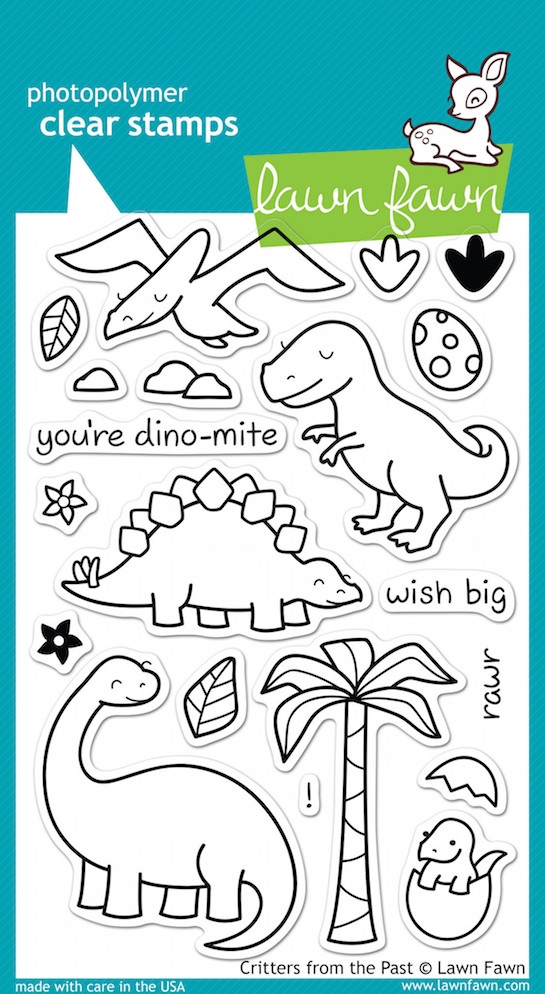 Lawn Fawn CRITTERS FROM THE PAST Clear Stamps LF602 zoom image