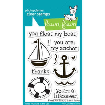 Lawn Fawn FLOAT MY BOAT Clear Stamps LF654